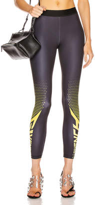 Givenchy Sporty Logo Legging in Black & Yellow | FWRD