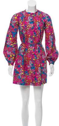Marc Jacobs Floral Print Long-Sleeve Dress
