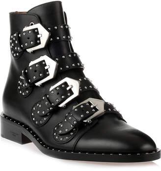 Givenchy Elegant flat black leather boot