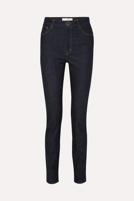 Victoria Beckham High-rise Slim-leg Jeans - Dark denim