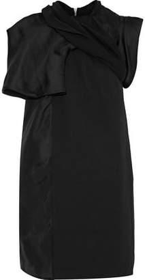 Rick Owens Organza Jersey And Canvas-Paneled Silk Top