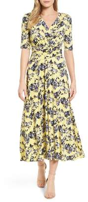 Chaus Floral Ruched Midi Dress