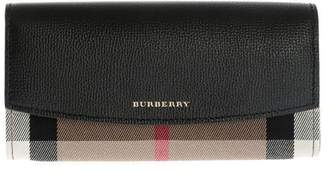 Burberry Checked Continental Wallet