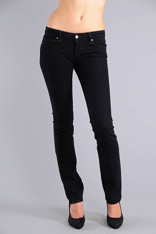 Paige Premium Denim Blue Heights Skinny Jeans in Black