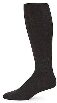 Saks Fifth Avenue Wide Rib-Knit Crew Socks