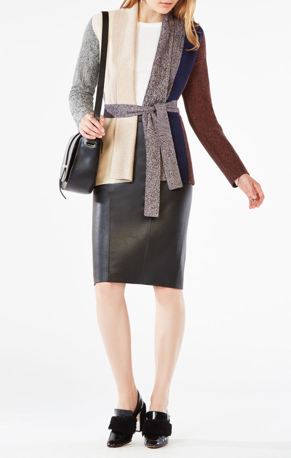 BCBGMAXAZRIA Bridgette Color-Blocked Cardigan