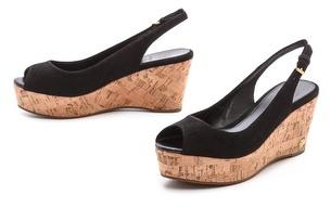 Tory Burch Rosalind Suede Wedge Sandals