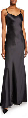 Ralph Lauren Evelyn Charmeuse Maxi Slip Dress