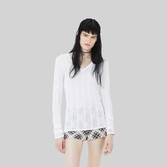 Marc Jacobs Pointelle V-Neck Sweater