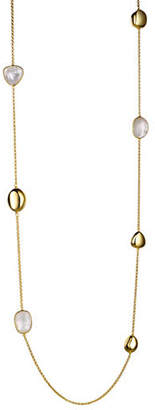 Mother of Pearl PIARA Goldplated Sterling Silver and Station Necklace