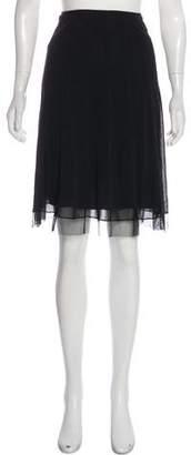 Vivienne Tam Mesh A-Line Skirt