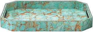 "Jamie Young 18"" Octave Tray - Turquoise Pebble"