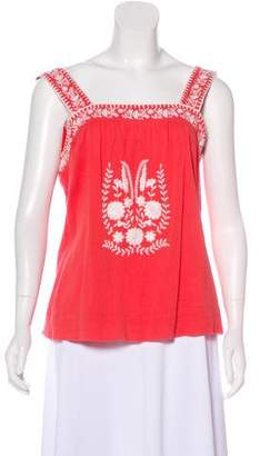 Joie Embroidered Sleeveless Top