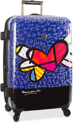 """Heys Britto Heart with Wings 26"""" Expandable Hardside Spinner Suitcase"""