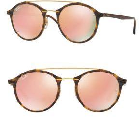 Ray-Ban Phantos Double-Bridge Mirrored Sunglasses $225 thestylecure.com
