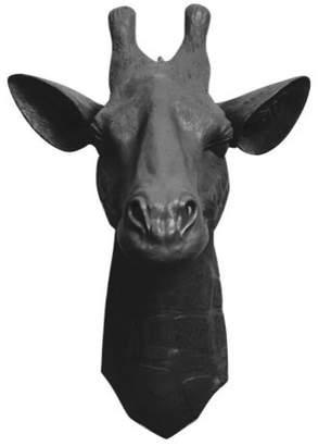 White Faux Taxidermy Faux Resin Giraffe Head Wall Mount