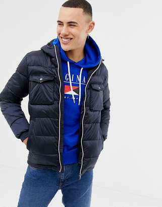 Jack and Jones Originals puffer jacket with color zip and arm badge