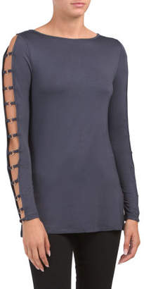 Boat Neck Tunic With Ring Detail