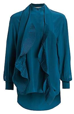 Givenchy Women's Silk Crepe De Chine Ruffled Blouse