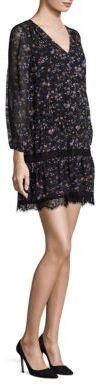 Joie Auggie Ikat Floral Lace Inset Dress $378 thestylecure.com