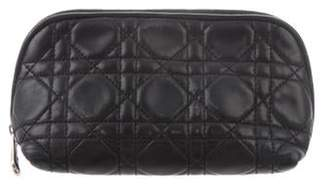 Christian Dior Lady Cannage Cosmetic Case Black Lady Cannage Cosmetic Case