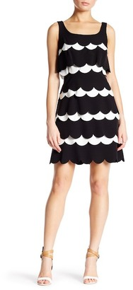 Julia Jordan Sleeveless Scalloped Crepe Sheath Dress $158 thestylecure.com