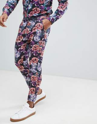 Asos Design Super Skinny Pants In Bright Floral Print Co-Ord