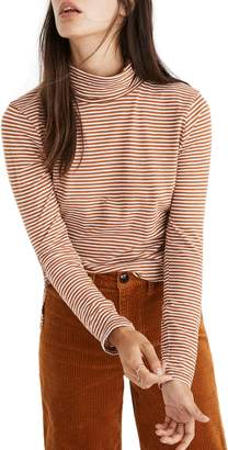 Madewell Stripe Whisper Cotton Turtleneck