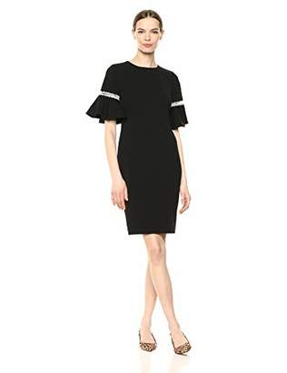 Calvin Klein Women's Flare Sleeve Dress with Lace