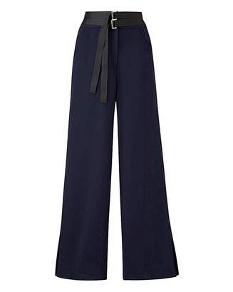 Marisota Petite Textured Wide Leg Trousers