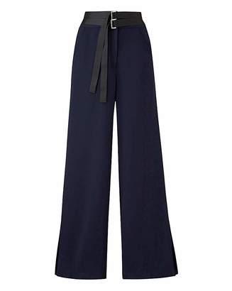 Fashion World Petite Textured Wide Leg Trousers