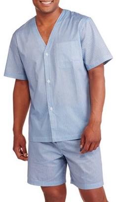Fruit of the Loom Big Men's Short Sleeve Knee Length Pant Print Pajama