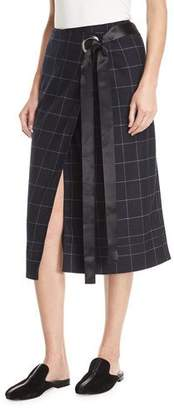 Elizabeth and James Omar Plaid Wrap Skirt
