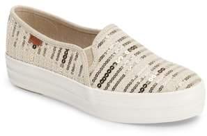 Keds R) 'Triple Decker Sequin' Slip-On Platform Sneaker