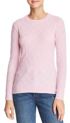 Minnie Rose Diamond-Knit Cashmere Sweater