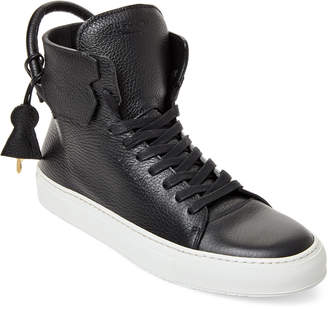 Buscemi Black High-Top Leather Sneakers
