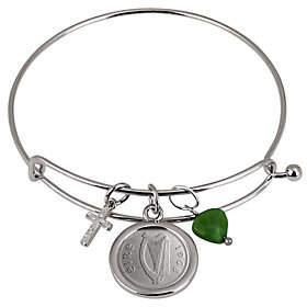 American Coin Treasures Irish Threepence CrossHeart Bracelet