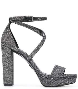 MICHAEL Michael Kors Charlize platform glitter sandals