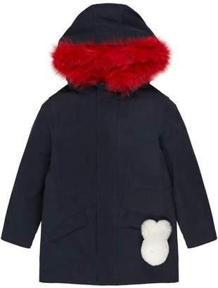 Yves Salomon Fox Fur Lined Coat