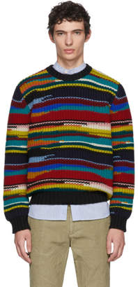 Missoni Multicolor Stripe Crewneck Sweater