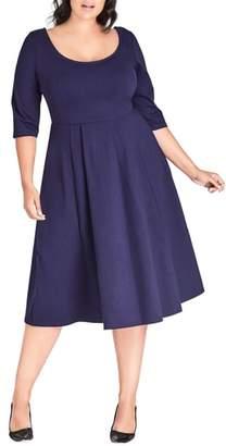 City Chic Scoop Neck A-Line Dress