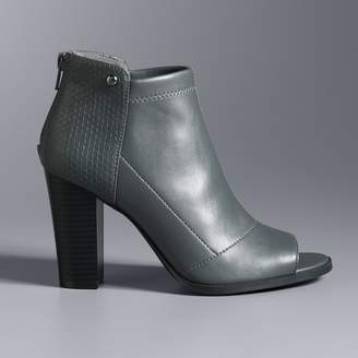 Vera Wang Simply Vera Skimmer Women's High Heel Ankle Boots