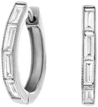 Couture SETHI Baguette Diamond Huggie Hoop Earrings