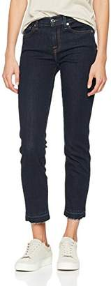 7 For All Mankind Seven International SAGL Women's Mid Rise Roxanne Crop Unrolled Slim Jeans,W24/L28 (Size: 24)