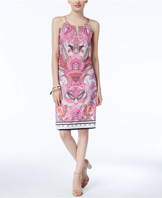 INC International Concepts Printed Sheath Dress, Only at Macy's $79.50 thestylecure.com