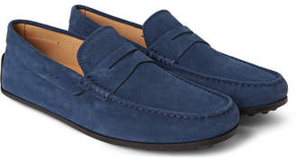 Tod's Gommino Suede Loafers - Men - Storm blue