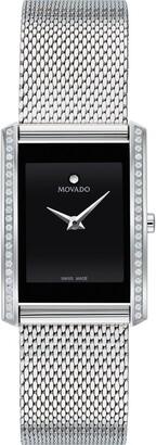 Movado La Nouvelle Diamond Bezel Bracelet Watch, 30mm