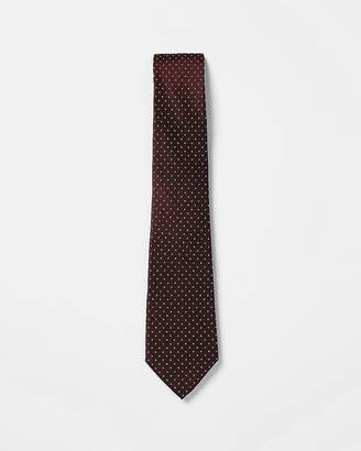 Express Small Dot Narrow Silk Tie