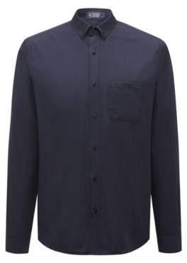 HUGO Boss Relaxed-fit cotton-blend shirt recycled materials L Dark Blue