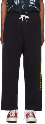 Double Rainbouu Black Party Strip Ez Lounge Pants